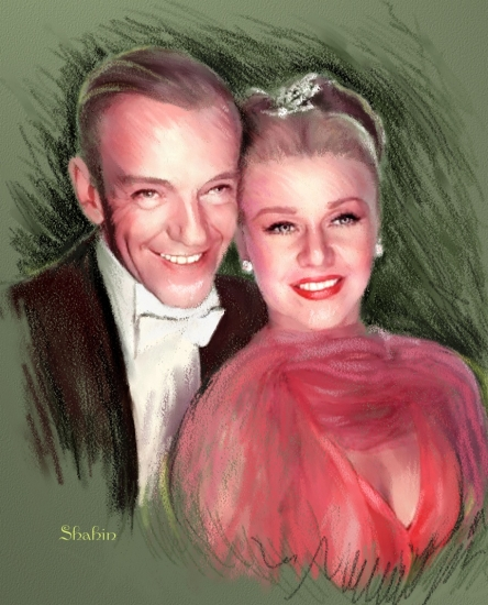 Fred Astaire, Ginger Rogers by shahin